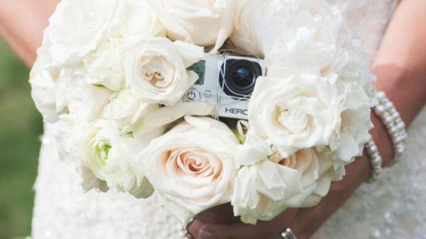 gopro bouquet wedding